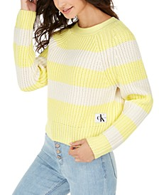 Cotton Striped Chunky-Knit Sweater