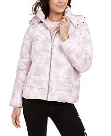 Calvin Klein Performance Printed Hooded Puffer Jacket