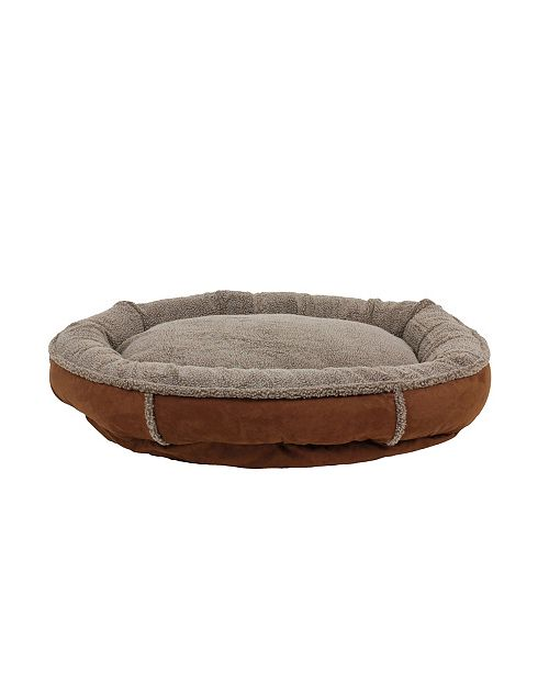 Carolina Pet Company Tipped Berber Round Comfy Cup Dog Bed Collection