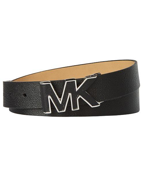 Michael Kors Stingray-Embossed Logo-Buckle Belt