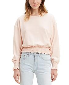 Smocked Sweatshirt