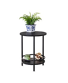 2-Tier Round Side Table