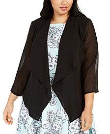 Plus Size Chiffon Shrug