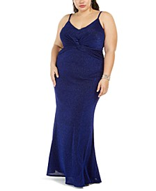 Trendy Plus Size Twist-Center Gown
