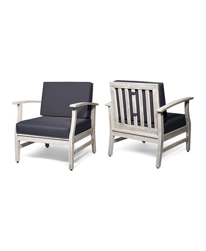 Noble House - Perla Club Chair (Set of 2), Quick Ship