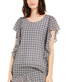 Plaid Ruffled Top