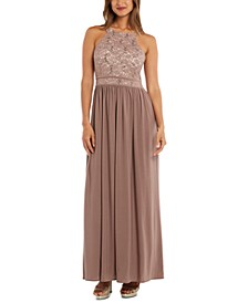 Lace-Top Gown