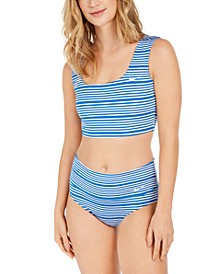 Sport Mesh Reversible Bikini Top & High-Waist Bottoms
