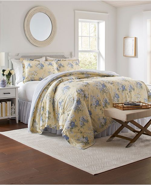 Laura Ashley Maybelle Comforter Set Reviews Comforters Fashion Bed Bath Macy S