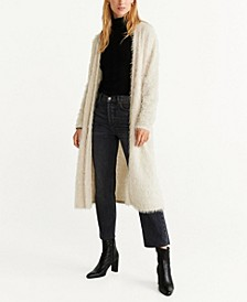 Faux-Fur Textured Cardigan