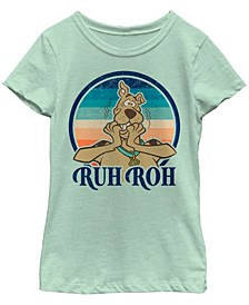 Scooby Doo Little and Big Girl's Ruh Roh Scooby Short Sleeve T-Shirt