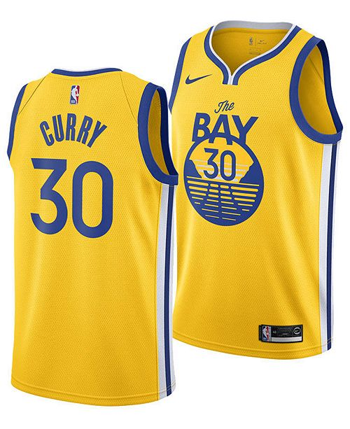 Nike Men's Stephen Curry Golden State Warriors Statement Swingman Jersey