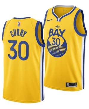 Nike Men's Stephen Curry Golden State Warriors Statement Swingman Jersey