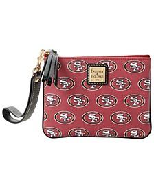 San Francisco 49ers Saffiano Stadium Wristlet