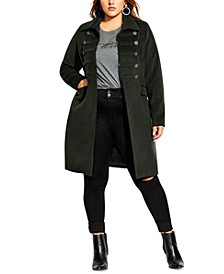 Trendy Plus Size Simply Fierce Band Coat