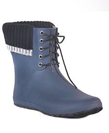Coachella Lace Waterproof Women's Ankle-Height Rain Boot