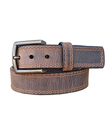 Men's Distressed Troubadour Crazy Horse Leather Casual Work Jean Belt