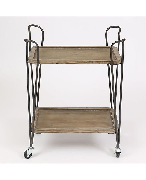 Luxen Home Two Tray Multipurpose Cart