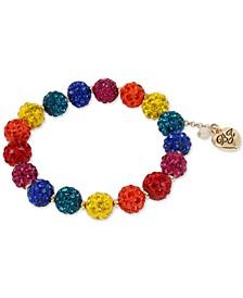 Gold-Tone Pavé Fireball Stretch Bracelet