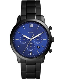 Men's Chronograph Neutra Black Stainless Steel Bracelet Watch 44mm