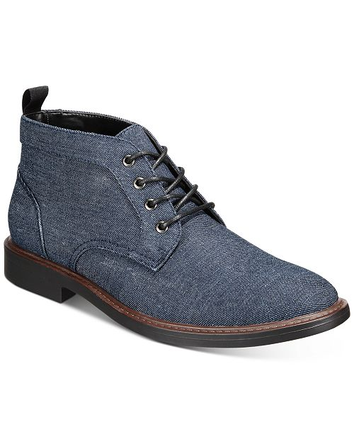 Alfani Men's Aiden Denim Chukka Boot Created for Macy's