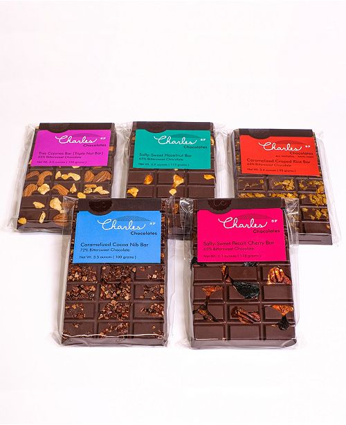 Charles Chocolates Bittersweet Premium Chocolate Bar Collection