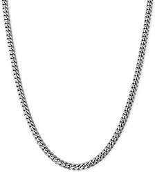 """Curb Link Chain Necklace 18""""- 24"""" in Sterling Silver or 18k Gold-Plated Over Sterling Silver"""