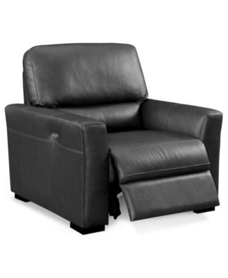 Nicolo Leather Power Recliner With Articulating Headrest, Created For  Macyu0027s. Furniture