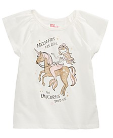Little Girls Mermaid Unicorn T-Shirt, Created For Macy's
