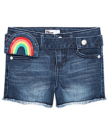 Toddler Girls Rainbow-Wallet Denim Shorts, Created for Macy's