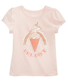 Little Girls Uni-Cone T-Shirt, Created for Macy's
