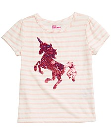 Little Girls Unicorn Flip Sequin Top, Created for Macy's