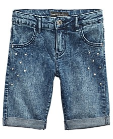 Big Girls Studded Denim Shorts