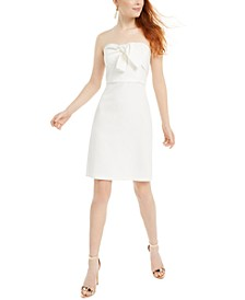 Strapless Bow-Front Dress