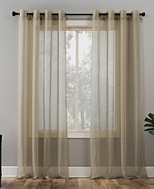 "Sheer Voile 59"" x 84"" Grommet Top Curtain Panel"