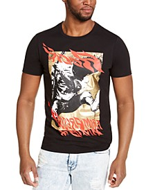 Men's Rock-n-Roll Flame Graphic T-Shirt