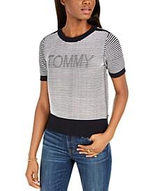 Striped Logo Sweater