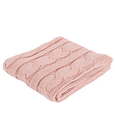 Happycare Textiles Soft Knitted Dual Cable Throw