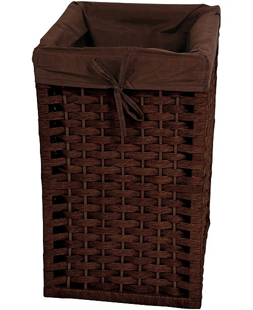 "Red Lantern 17"" Natural Fiber Basket"