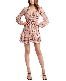Frill Floral A-Line Dress
