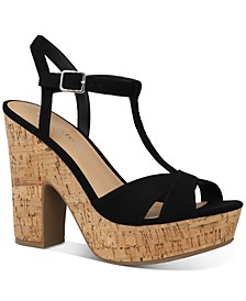 Jamie T-Strap Platform Dress Sandals, Created for Macy's