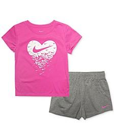 Toddler Girls 2-Pc. T-Shirt & French Terry Shorts Set