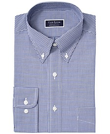 Men's Classic/Regular Fit Stretch Mini Gingham Dress Shirt, Created for Macy's