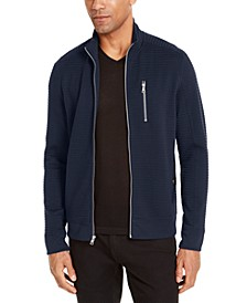 INC Men's Ribbed Sweater Jacket, Created for Macy's