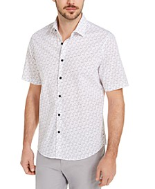 Men's Number Print Shirt, Created For Macy's