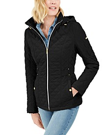 Hooded Quilted Water-Resistant Jacket