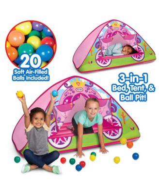 Little Tikes Enchanted Princess Carriage 3-In-1 Bed, Tent, Ball Pit