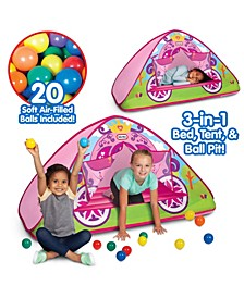 Enchanted Princess Carriage 3-In-1 Bed, Tent, Ball Pit