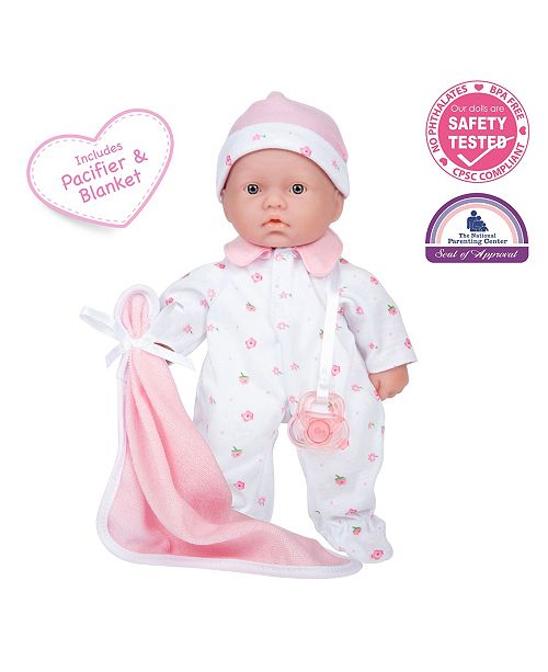 """JC TOYS La Baby 11"""" Washable Soft Body Play Doll for Children 12 Months and Older, Designed by Berenguer"""