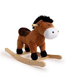 Rocking Brown Horse with Sound Rocker